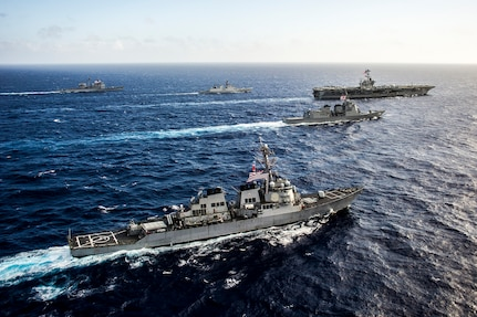 Indian, Japanese and U.S. maritime forces to participate in exercise Malabar 2018