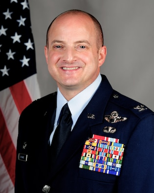 Colonel John W. Bosone, 8th Fighter Wing commander, took an official photo at Kunsan Air Base, Republic of Korea. He serves as the U.S. Forces Korea Area VI commander for more than 7,000 forward-stationed and combat-ready Air Force and Army personnel.