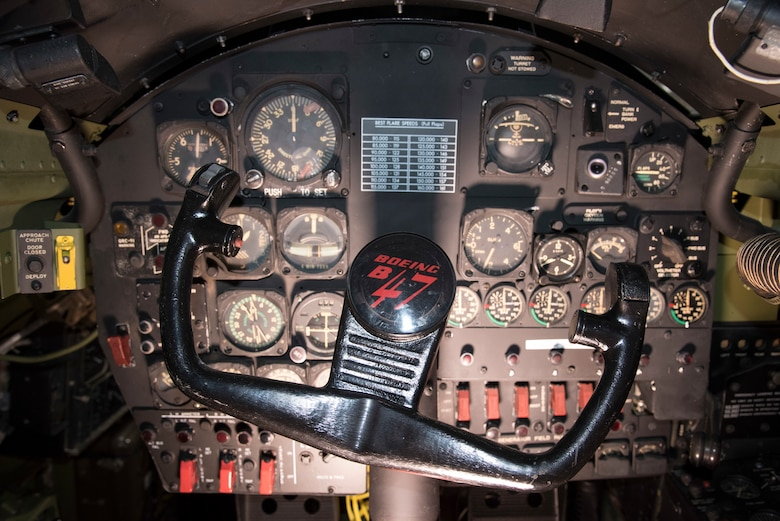DAYTON, Ohio -- Boeing RB-47H Stratojet co-pilot controls at the National Museum of the United States Air Force. (U.S. Air Force photo by Ken LaRock)