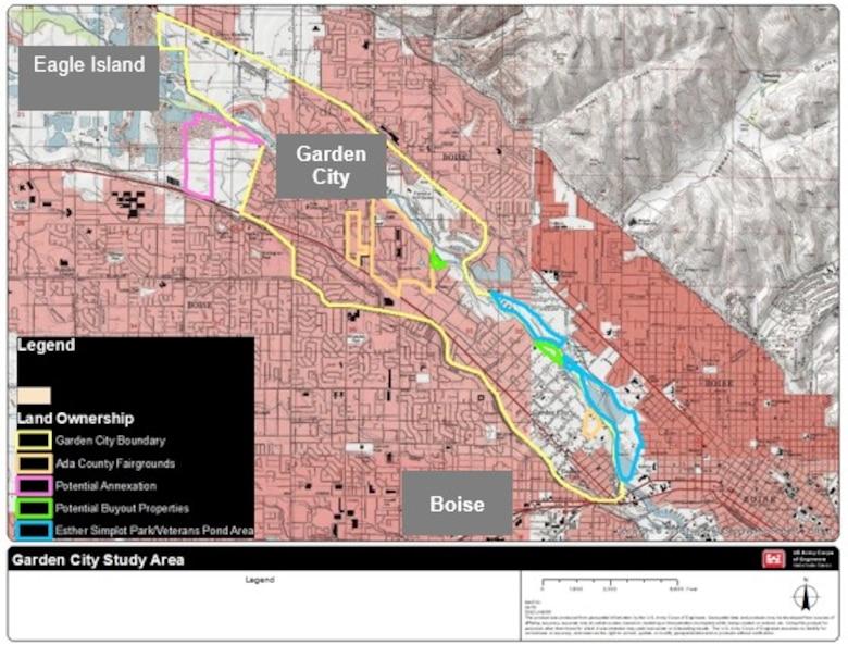 Figure 1: mapped Location of Garden City, Idaho