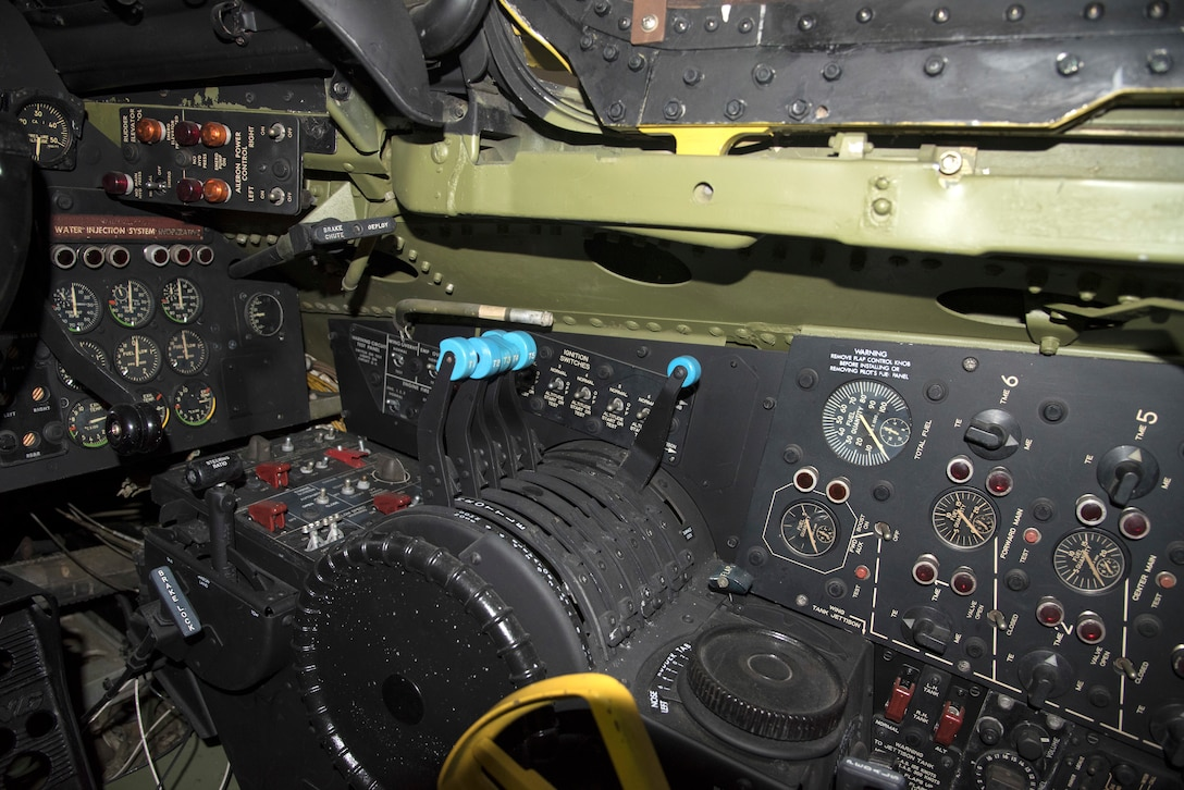 DAYTON, Ohio -- Boeing RB-47H Stratojet pilot controls at the National Museum of the United States Air Force. (U.S. Air Force photo by Ken LaRock)