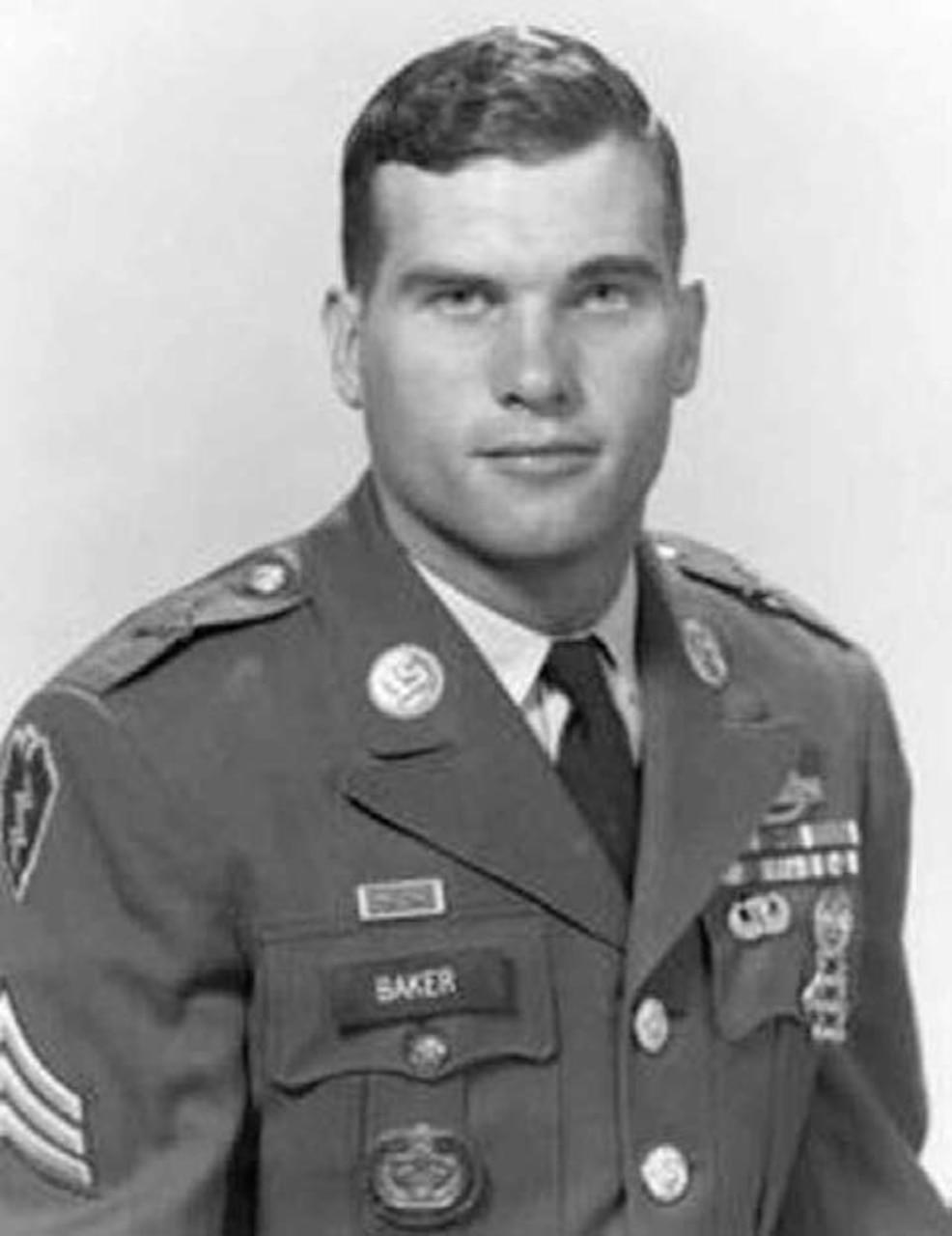 Sgt. John F. Baker Jr. posing in uniform.