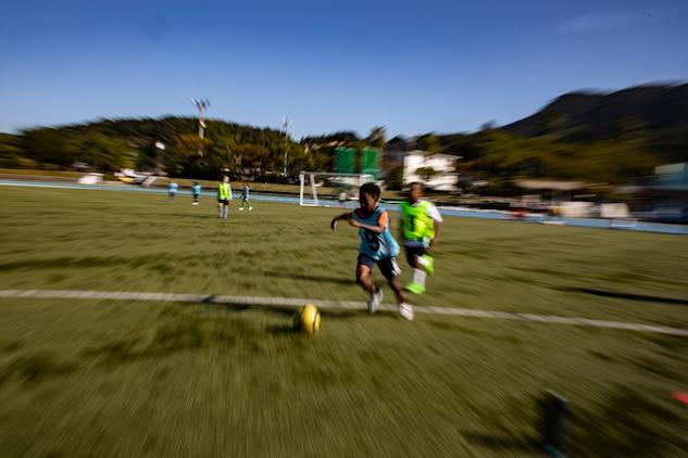 MCCS Iwakuni kicks off U.S. Japan children's soccer tournament