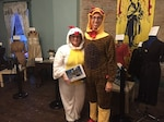Andrew Todd and his wife, Amy volunteer at Victoria House in Baltimore, Ohio on Halloween.