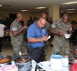 LOGCOM Marines and Civilians participate in annual Chili Cook Off.