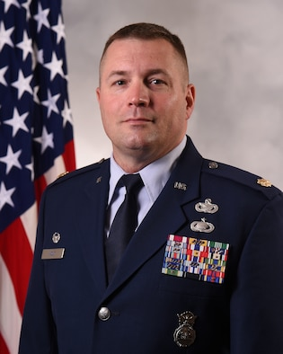 Overseeing operational control of the day-to-day law enforcement mission and access control is part of the provost marshal duties. U.S. Air Force Maj. Michael Holt, 627th Security Forces Squadron commander, recently became JBLM deputy provost marshal. (Courtesy Photo)