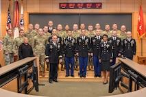 Seven recruiters earn the master recruiter badge on Nov. 2