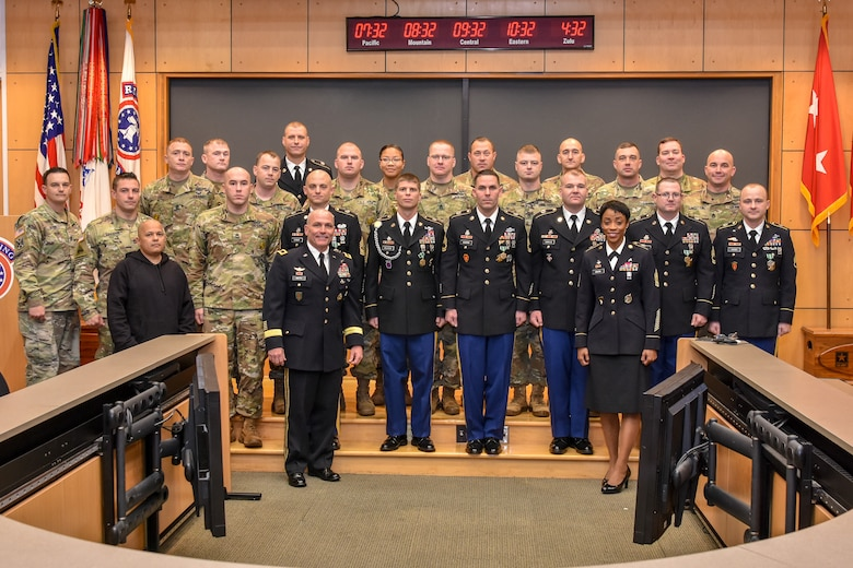Seven recruiters earn the master recruiter badge on Nov. 2