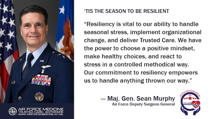 Building resiliency is one of the best ways we maintain our commitment to delivering Trusted Care, Anywhere. (U.S. Air Force illustration)