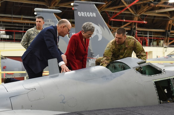 Secretary of the Air Force Heather Wilson visits the 173rd Fighter Wing