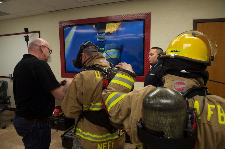 Man using a firehose