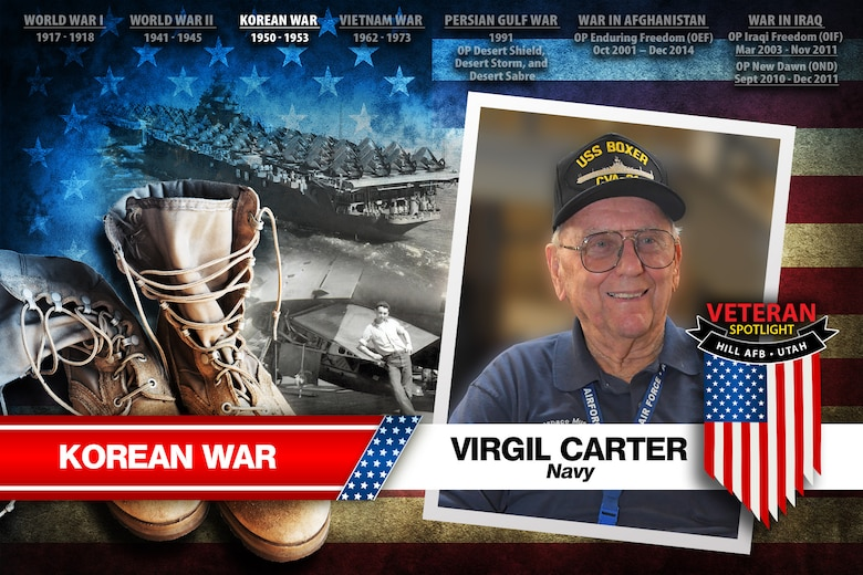 Today's spotlight is U.S. Navy veteran Virgil Carter. (U.S. Air Force illustration by David Perry)