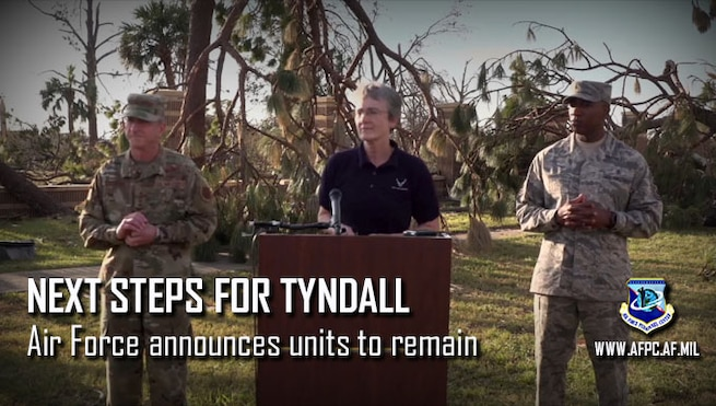 Air  Force announces units to return to Tyndall