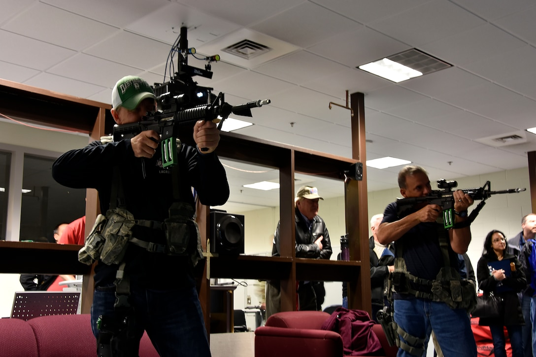 Employer/Educator Day shoot weapons at the 439th