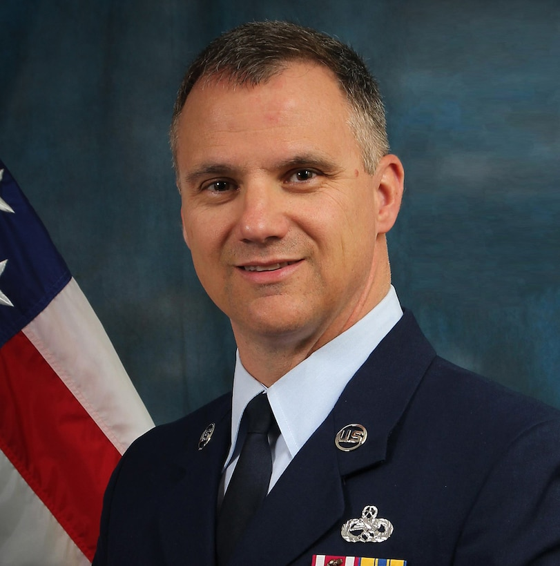 Chief Master Sgt. Mark E. Barber official photo