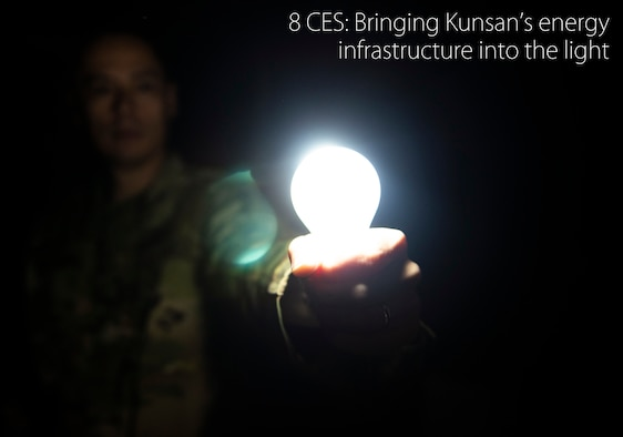 The 8th Civil Engineer Squadron has launched its latest project to help Kunsan Air Base take its first steps in becoming more energy efficient and environmentally conscious. (U.S. Air Force illustration by Senior Airman Stefan Alvarez)