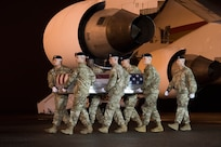 Photo of dignified transfer of Maj. Brent R. Taylor