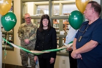 Renee Carter-Chapman, University of Alaska Anchorage (UAA) senior vice provost, gives a speech during a ribbon-cutting ceremony at the Joint Base Elmendorf-Richardson Education Center Nov. 2, 2018. The ceremony marks the opening of the academic tutoring room sponsored by the UAA. This room is open to all active-duty personnel, dependents and veterans, no matter which school they attend.