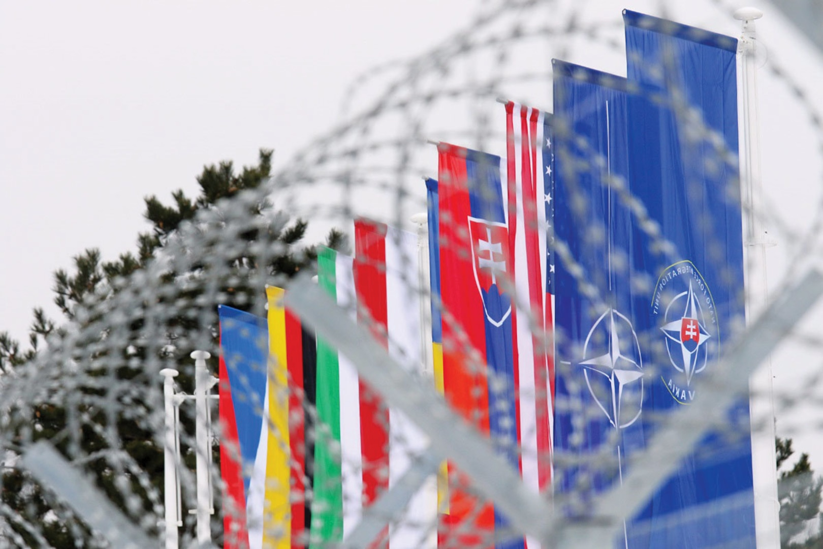 Original NATO caption: NATO inaugurates small unit headquarters in Slovakia. Attribution-NonCommercial-NoDerivs 2.0 Generic (CC BY-NC-ND 2.0), available at < https://www.flickr.com/photos/nato/32350160962/in/album-72157679537061225/>