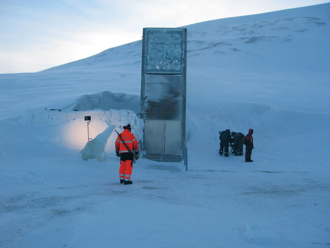 Photo of the seed vault in 2008, when the vault was first created.