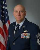Biography photo of the 81st Training Wing command chief, Chief Master Sgt. David A. Pizzuto.
