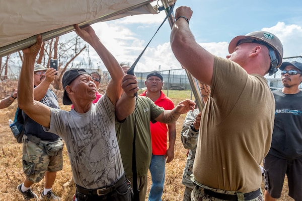 Pacific Army Reserve Typhoon Recovery Efforts Put Needs of Community above All Else