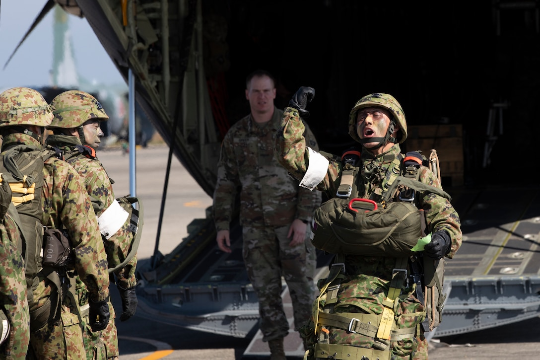 Paratroopers on board