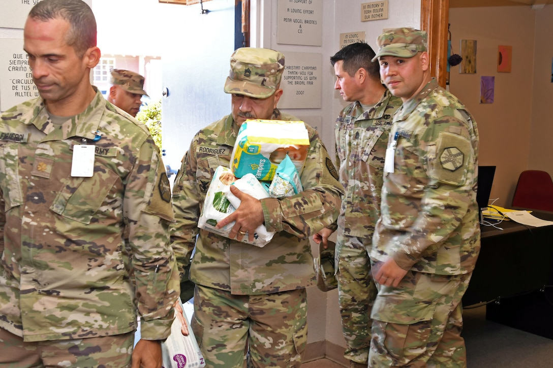 210th RSG Soldiers deliver goods, services to Child Crisis Center of El Paso