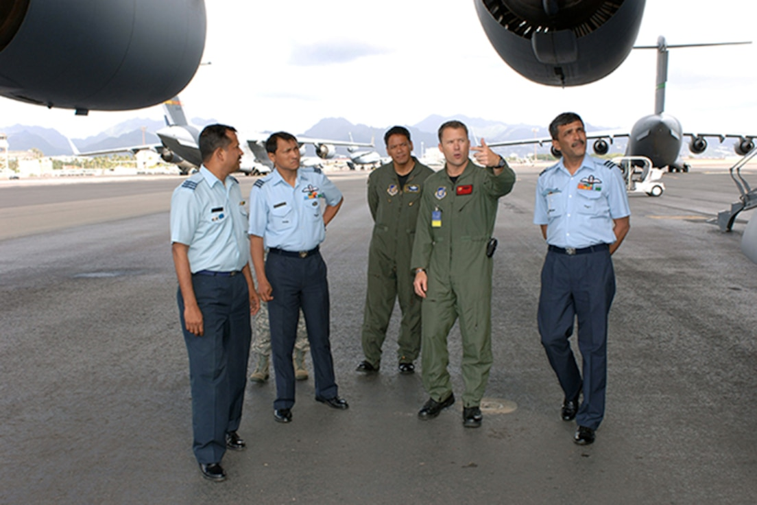 Indian air force and USAF officers