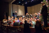 The 133rd Army National Guard Band shown during their 2017 holiday concert in Auburn, Wash., plays year-round.