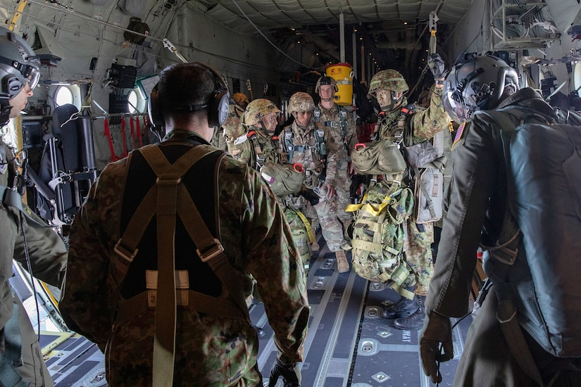 Keen Sword 19: Historic First Japan Ground Self-Defense Forces Jump from USAF C-130Js in Japan