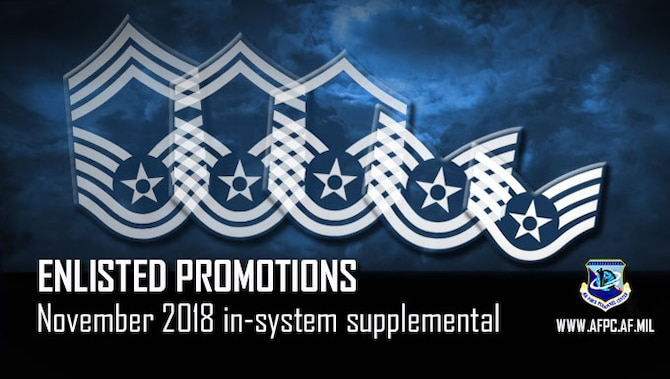 November Enlisted Supplemental Promotion
