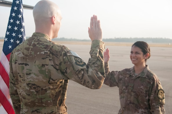 Staff Sgt. Kelly Andino re-enlistment
