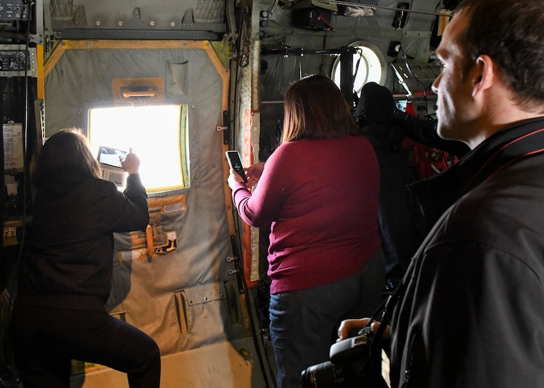 The 910th Airlift Wing invited local educators to Youngstown Air Reserve Station and flew them over Niagara Falls so that they can bring their experiences back to their students and help them learn about the career options and college benefits available to them.