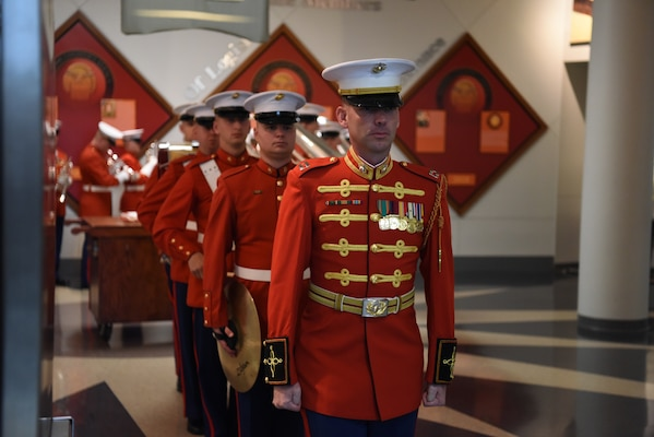 Marine band in dress red jackets