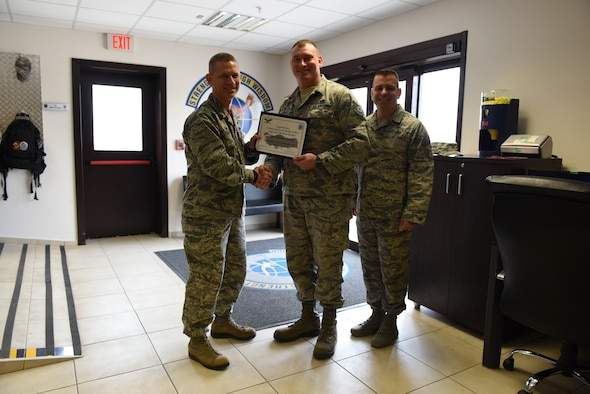 Congratulations to U.S. Air Force Tech. Sgt. William Atchley, 728th Air Mobility Squadron consolidated tool kit NCO in charge, for winning the Larger Than Life Award at Incirlik Air Base, Turkey, Nov. 9, 2018.