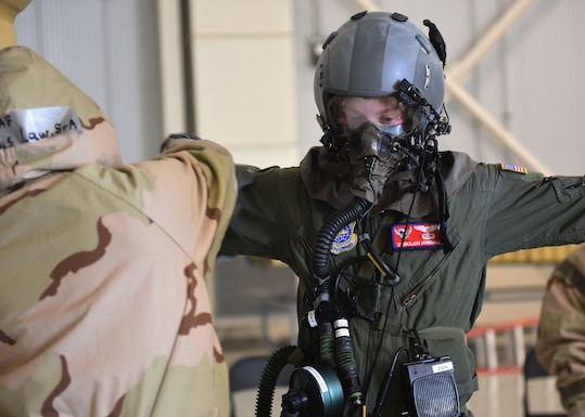 The 317th AW completes chemical warfare exercise