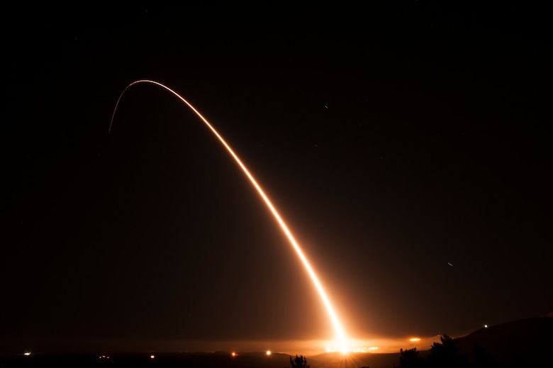 Minuteman III intercontinental ballistic missile launch