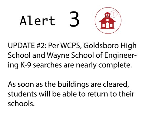 As soon as the buildings are cleared, students will be able to return to their schools.