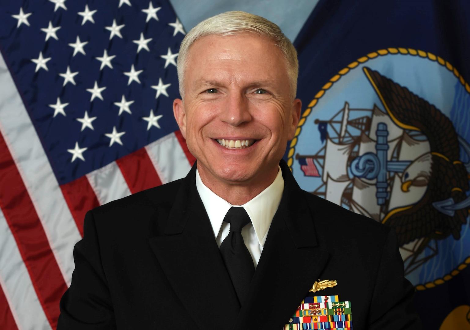Official bio photo of Navy Vice Adm. Craig Faller.