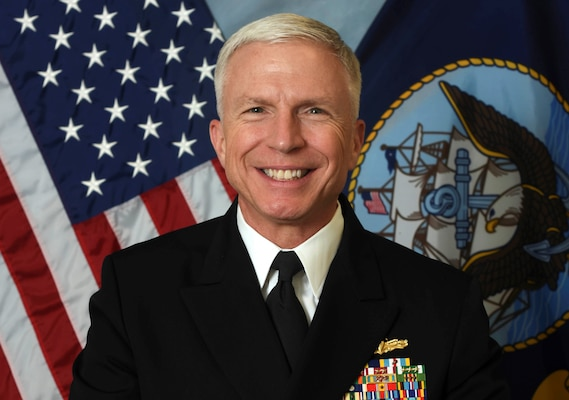 Official bio photo of Navy Vice Adm. Craig Faller.