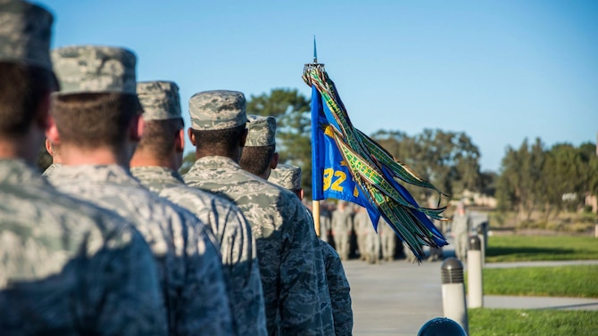 The 381st Training Group celebrated its 76th birthday, Nov. 7, 2018 at Vandenberg Air Force Base, Calif. The 381st TRG is the gateway into the U.S. Air Force for Airmen entering the space, missile, or missile maintenance career fields.(U.S. Air Force photo by Senior Airman Clayton Wear/Released)