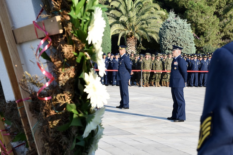 Military service members participated in a joint ceremony commemorating Mustafa Kemal Ataturk, Nov. 10, 2018, at Incirlik Air Base, Turkey.