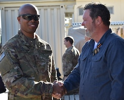 """Transitions are just the way of life at the USACE Afghanistan District as is the case with a quick handshake as one is departing and one is arriving. This for sure is a """"How we say hello, how we say Good bye"""" District priority and moment."""