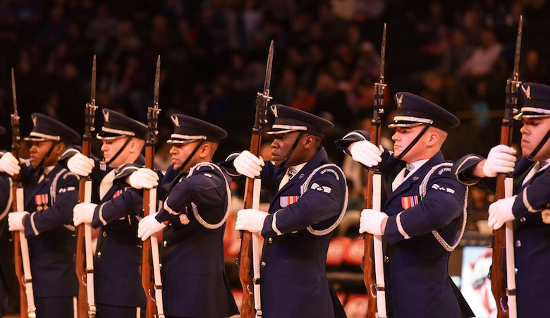 The Honor Guard performs