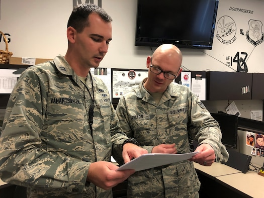 Capt. Ryan M. VanArtsdalen reviews depot processes