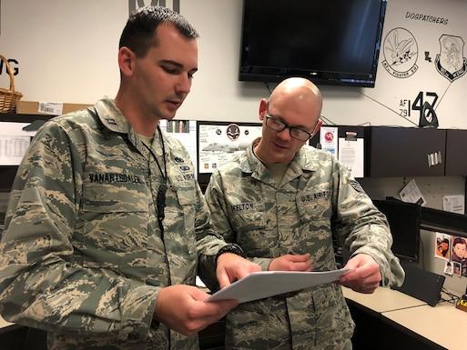 Capt. Ryan M. VanArtsdalen reviews depot processes