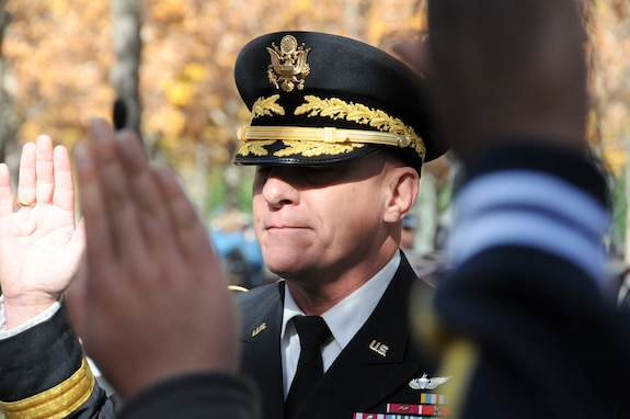 Army Reserve leader welcomes new Soldiers at 9/11 Memorial