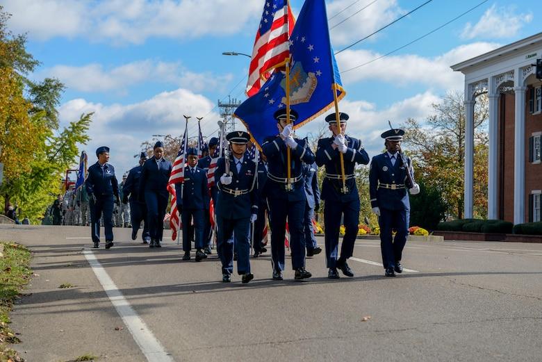 Columbus AFB, city host parade, ceremony to celebrate veterans
