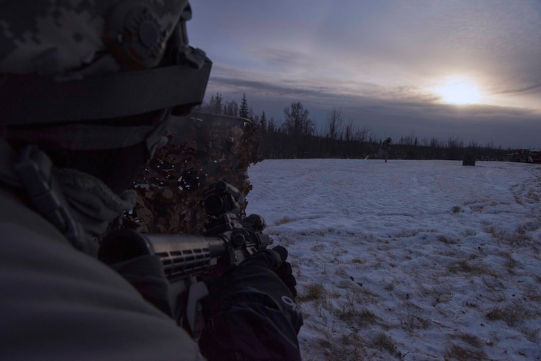During the exercise, SFS Airmen defended their camp from opposing forces.